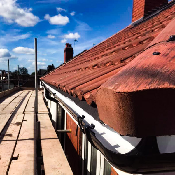 Guttering on New Roof by Ridgeline Roofing