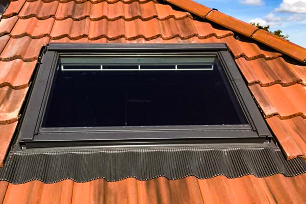 Velux window in new roof