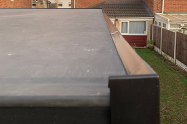 Close up of flat roof in Doncaster